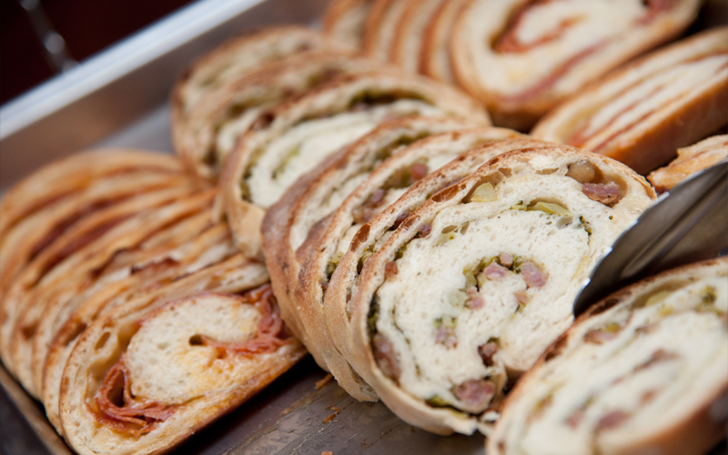 Pepperoni and Assorted Stuffed Breads