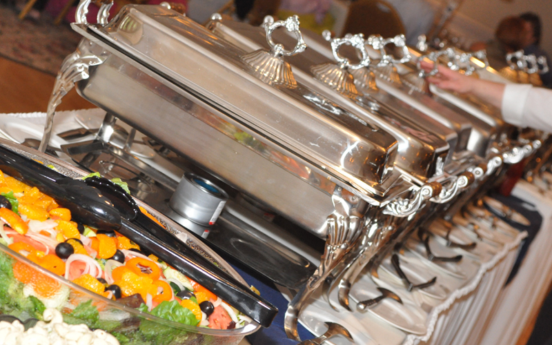 Catering Dishes with Food
