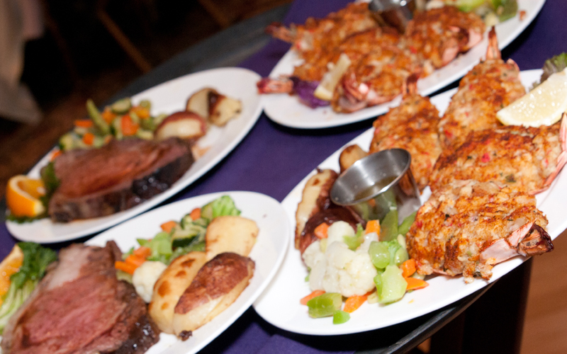 Several Entrees for Wedding Guests