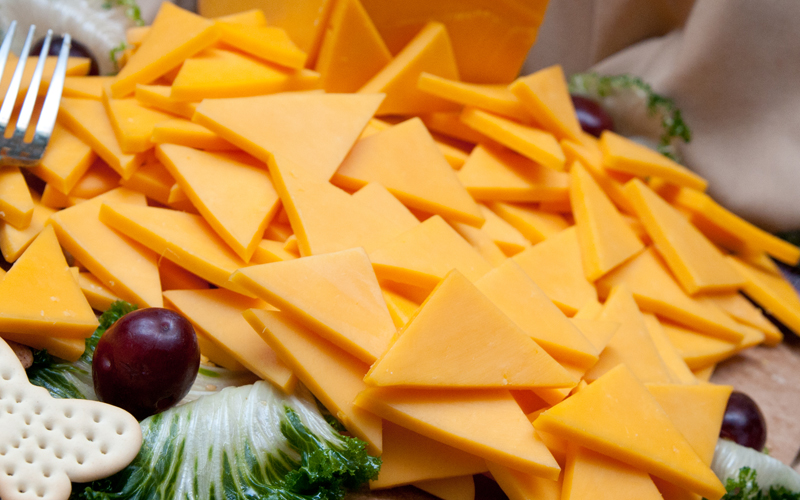 Cheddar Cheese Appetizer Table