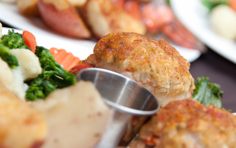 Stuffed Lobster Entree for Wedding Close up