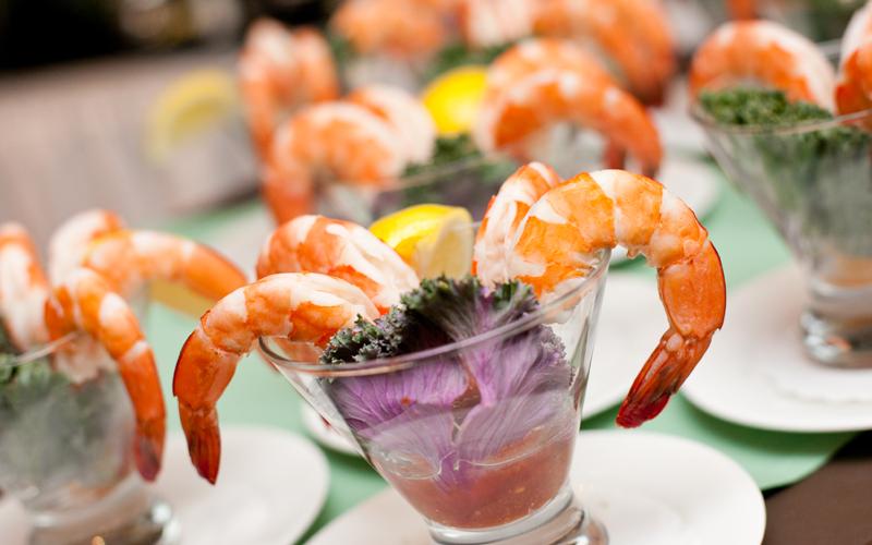 Beautiful Display of Shrimp Cocktail