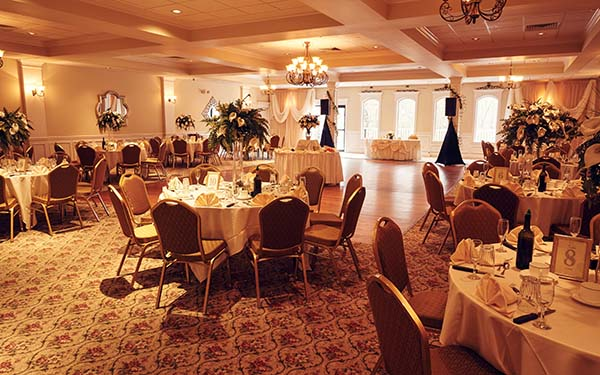 Wedding Facility Decorated for Reception