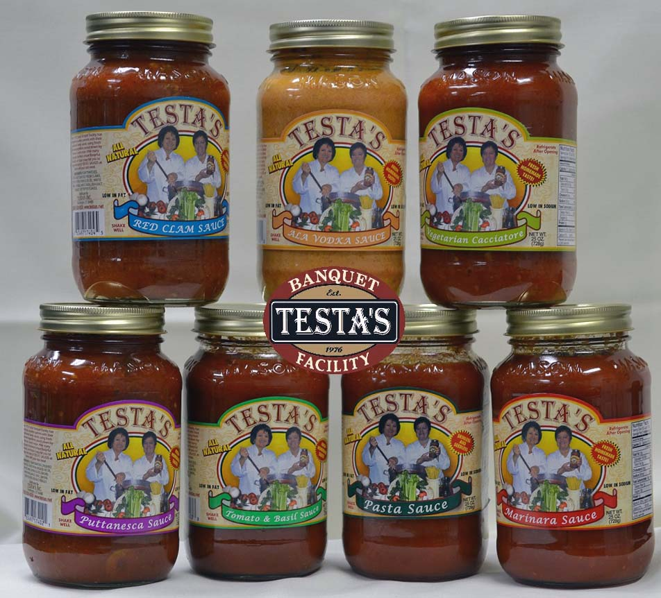 Full Line of Pasta Sauce Available from Testa's