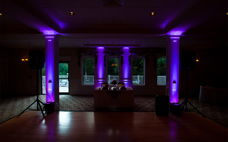 Purple Uplighting at Testa's