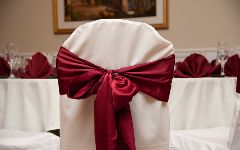 Chair Cover with Red Bow