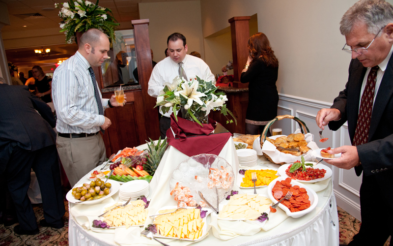 Guests Getting Appetizers