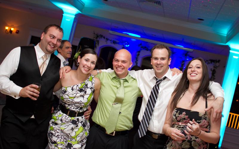 Friends at Wedding Reception