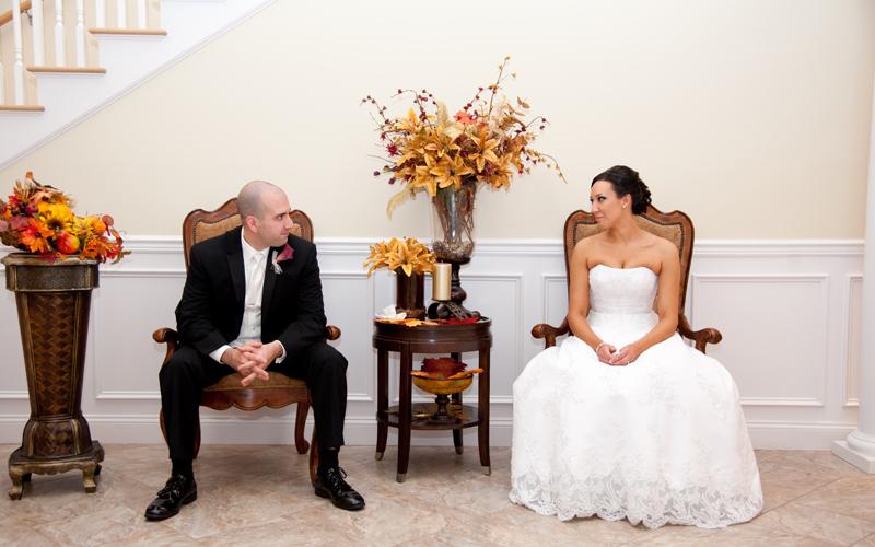 Portrait of Wedding Couple at Venue