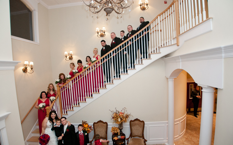 Stairway Bridal Party Photo
