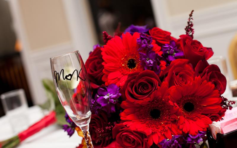 Brides Bouquet at Head Table