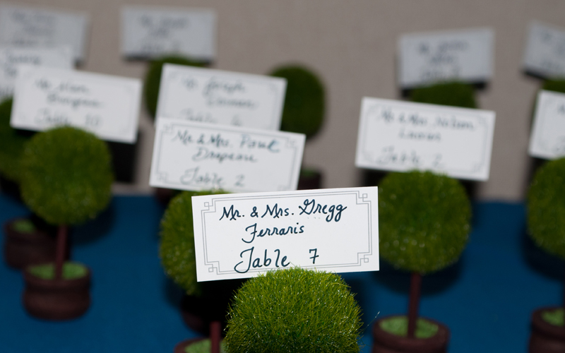 Table Seating Cards at Reception