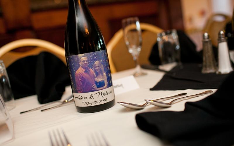 Wine Gift Favor at Testa's Wedding