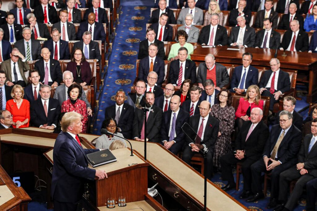 On Tuesday evening, President Trump delivered his State of the Union address to the nation. (Photo from AP)