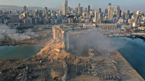 The explosion in Beirut occurred on Tuesday at around 6pm local time. (Photo from AP)