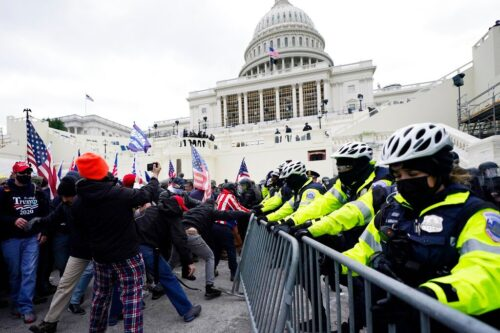 A violent mob of pro-Trump insurrectionists attacked the U.S. Capitol in a disgraceful attempt to overturn a free and fair election. (Photo from AP)