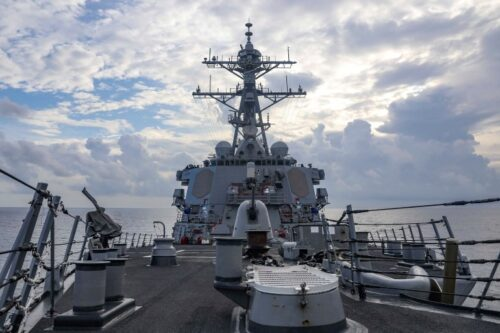 The Biden administration called out Beijing for its actions in the South China Sea. (Photo from the U.S. Navy)