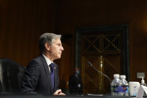 Secretary of State Blinken offered testimony this week on the Biden administration's withdrawal from Afghanistan. (Photo from Los Angeles Times)