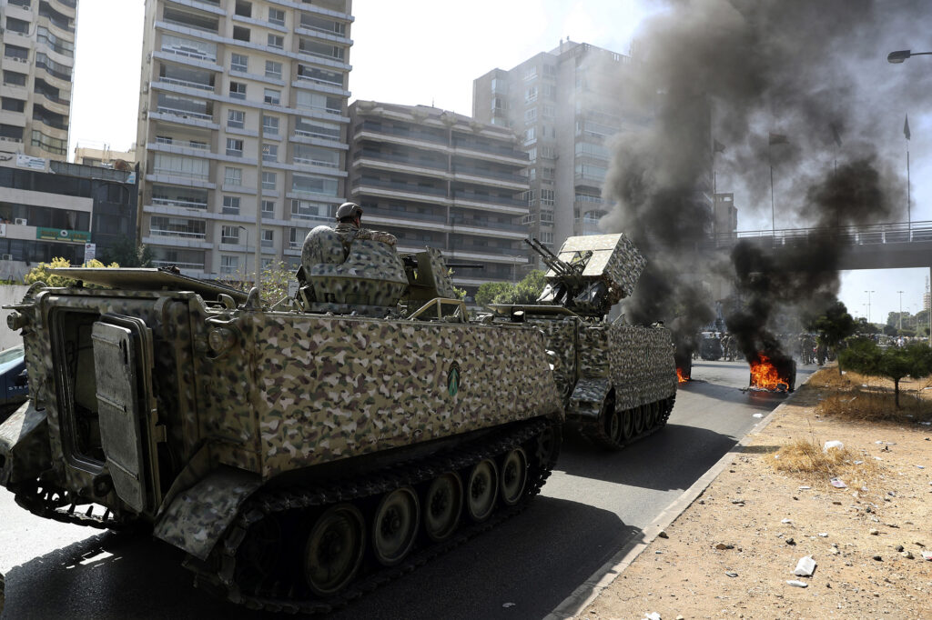 Armed clashes and heavy gunfire have erupted in the Lebanese capital city. (Photo from AP)