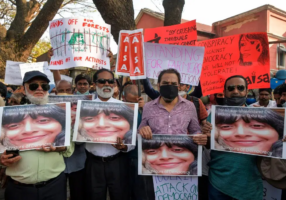Indian authorities arrested a leading activist on bogus charges of sedition. (Photo from Getty Images)
