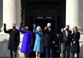 President Biden was officially sworn into office at 12pm EST on Wednesday, January 20th. (Photo from Getty Images)