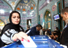 Iran was struck by the lowest election turnout since 1979 amid the coronavirus outbreak. (Photo from Reuters)