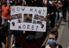 Major protests broke out domestically and around the world following the murder of George Floyd. (Photo from AP)