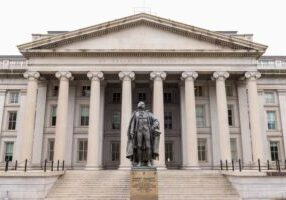 The U.S. Treasury Department was among the federal agencies hacked. (Photo from Getty Images)