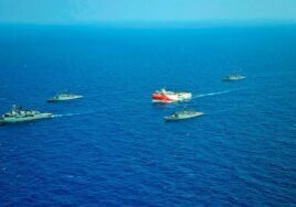 Tensions in the Eastern Mediterranean continue to rise over natural resource exploration. (Photo from PA)