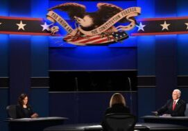The lone vice-presidential debate was held last night in Salt Lake City, Utah. (Photo from Getty Images)