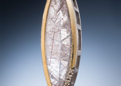 Artisan Jewelers chocolate diamonds rutilated-quartz-slide pendant-