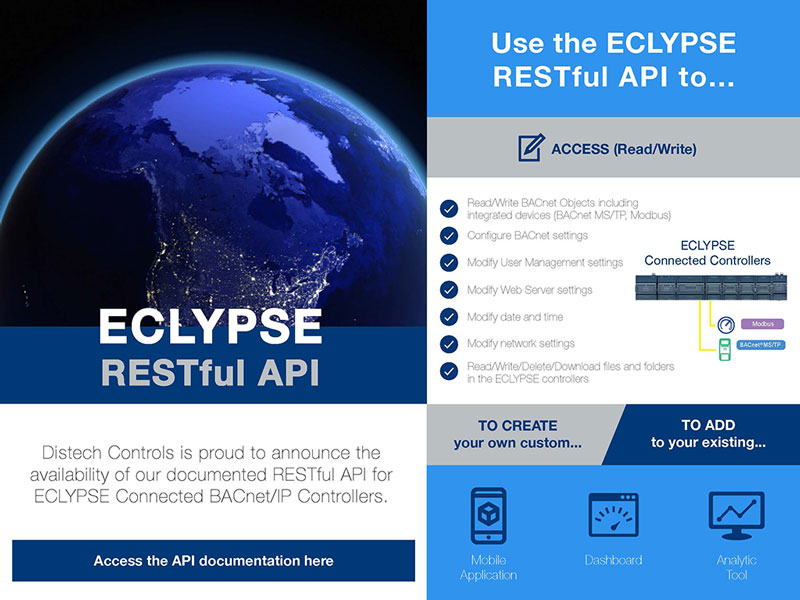 Distech ECLYPSE RESTful API
