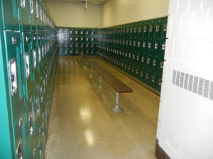 Northdale Middle School, Coon Rapids, MN. New Heavy Duty 4-Tier Lockers with Built In Combination Locks
