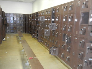 Northdale Middle School, Coon Rapids, MN. Too many small worn out box lockers that would not stay closed.