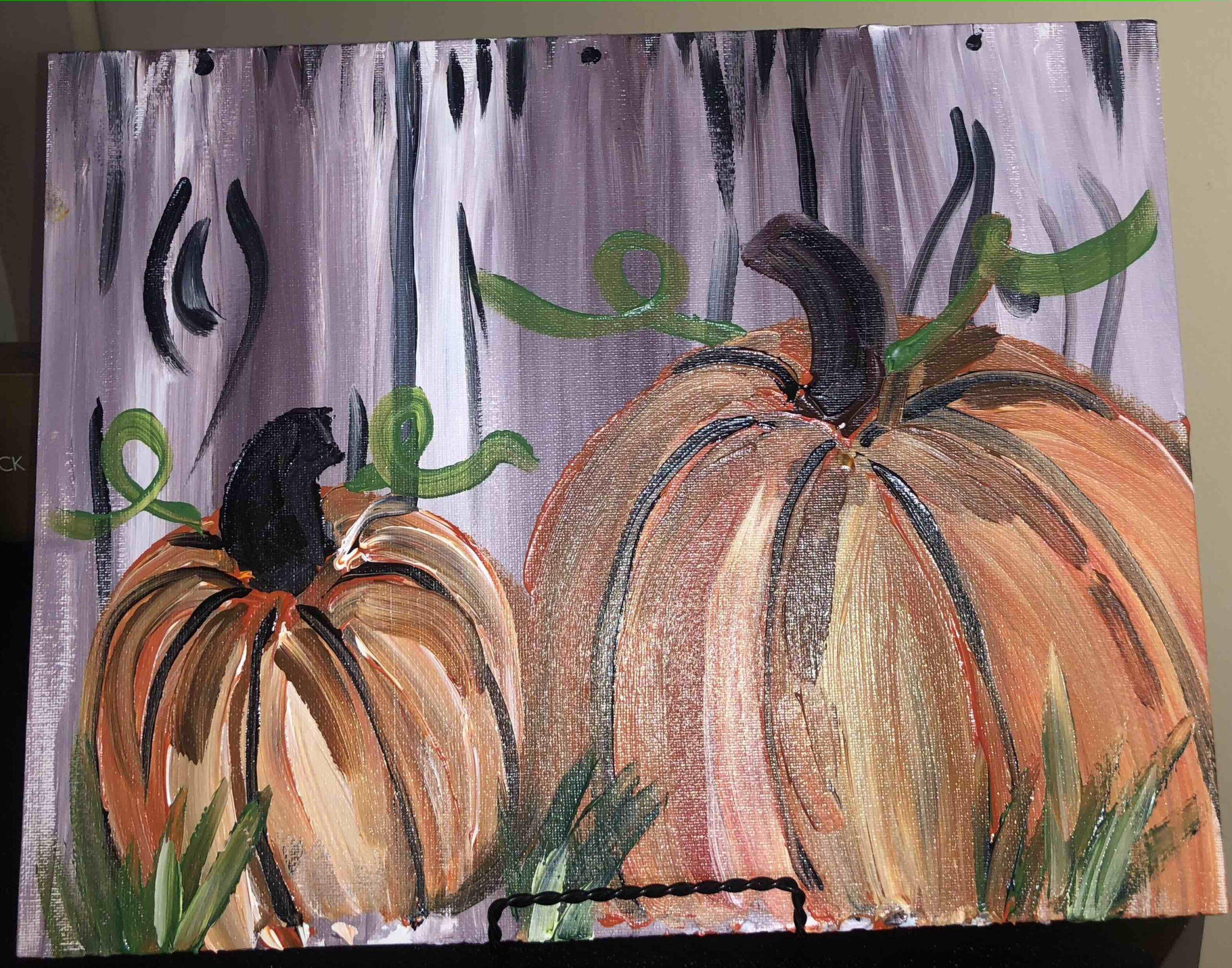 Halloween Pumpkins with Gwen