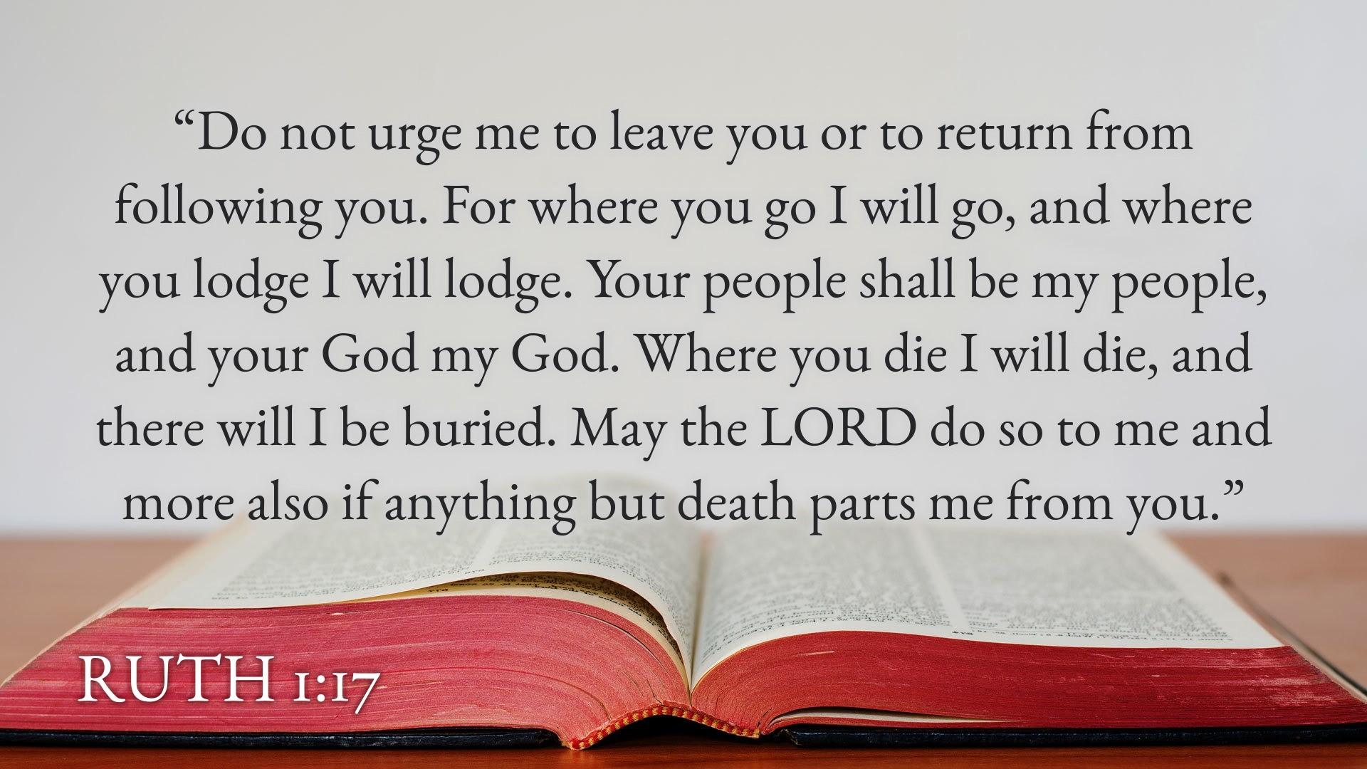 Ruth 1,17