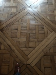 Wood floor with gaps and cracks