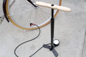 Bike pump filling air