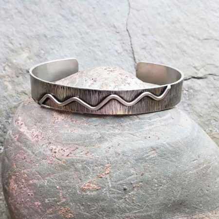 contemporary silver cuff bracelet journey collection