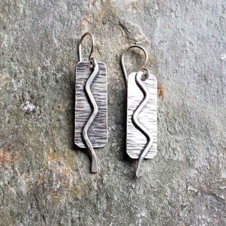 journey silver elemental single drop earring