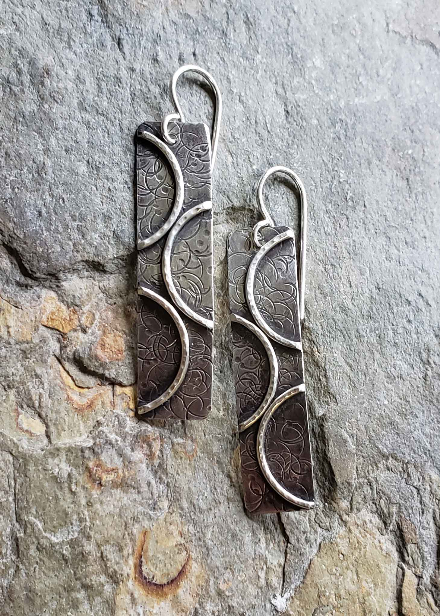 Rings of Change - sterling earrings. Dona Miller Designs, LLC