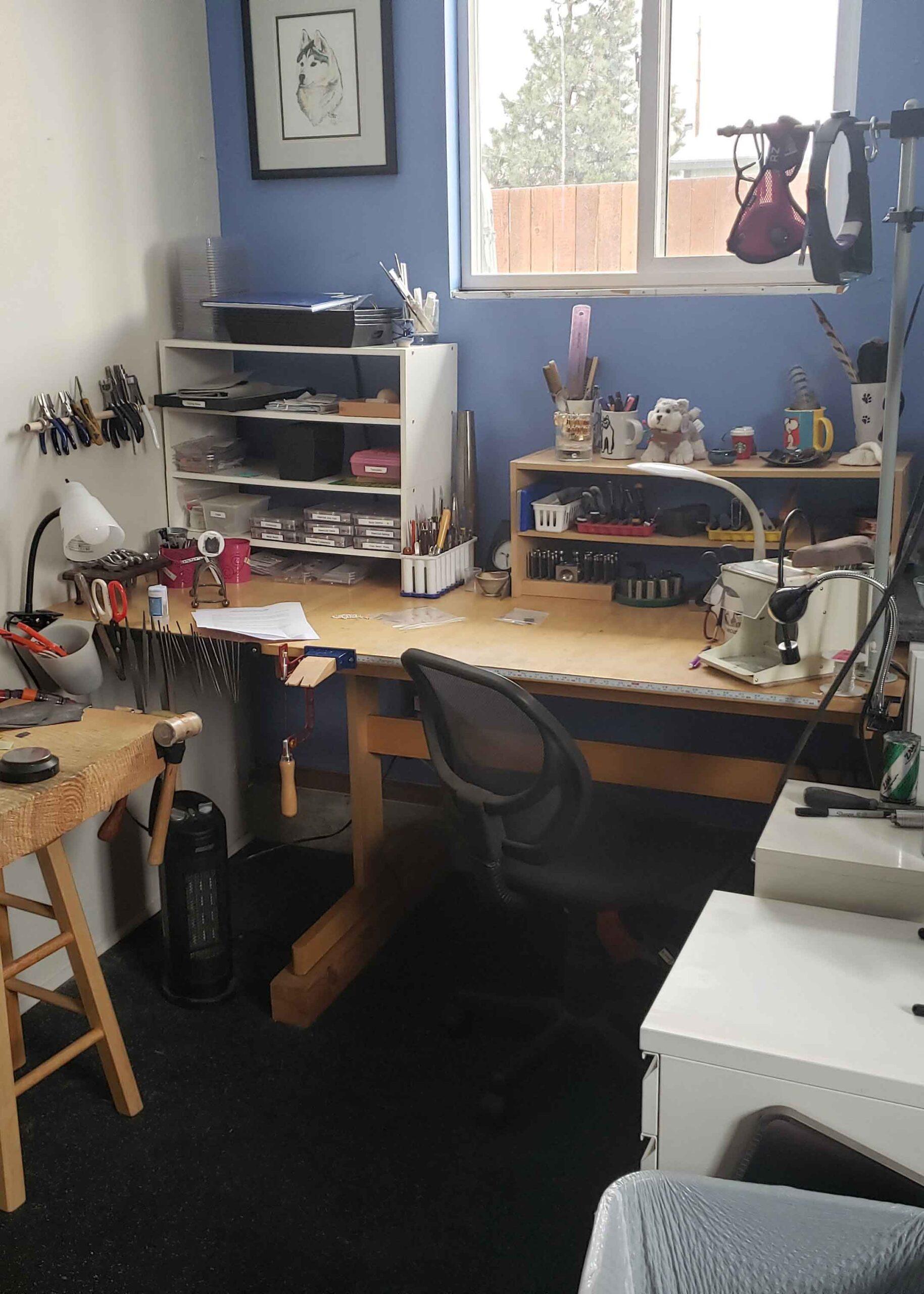 Working bench in studio