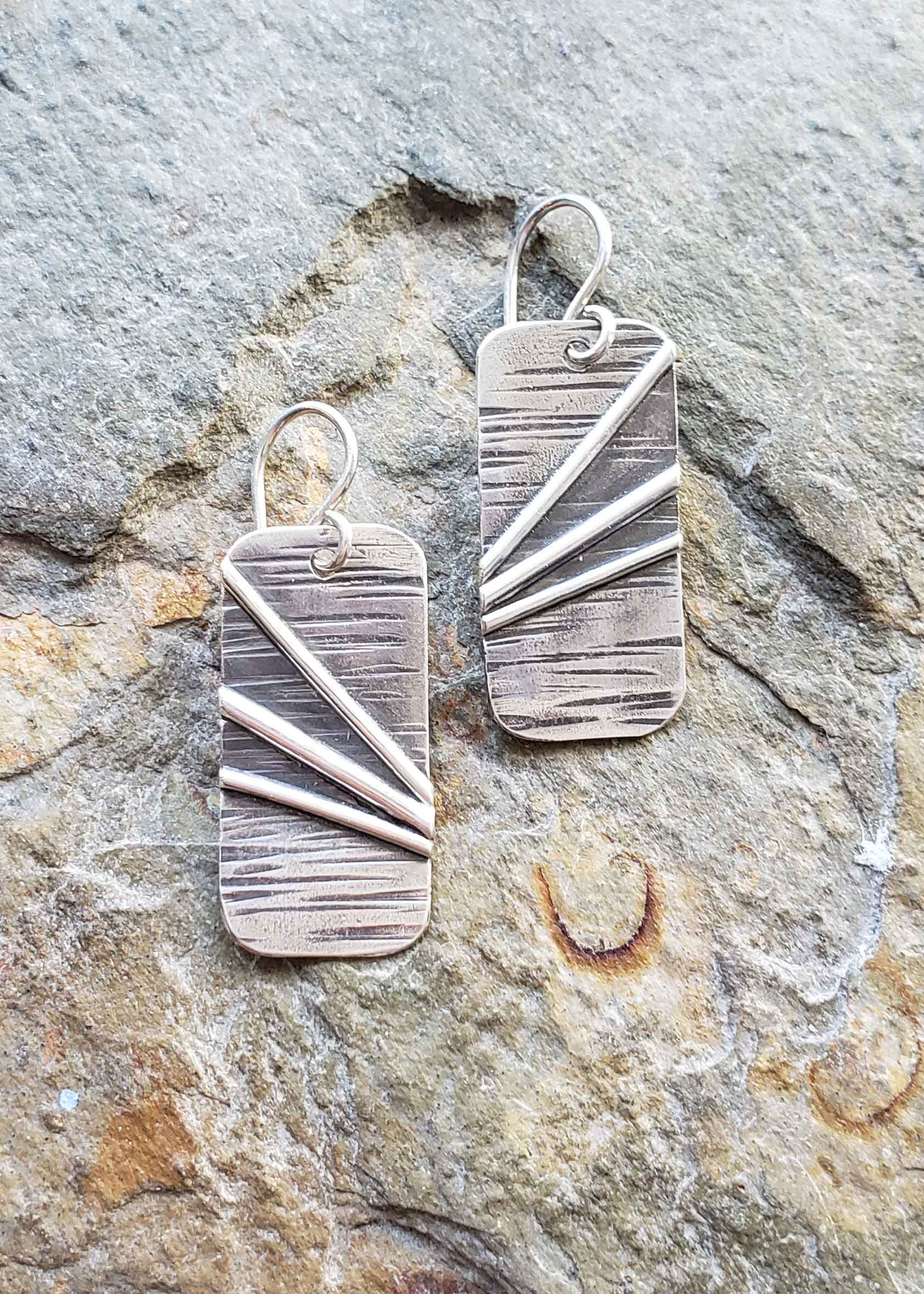 Contemporary silver earrings by Dona Miller