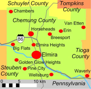 Chemung County map