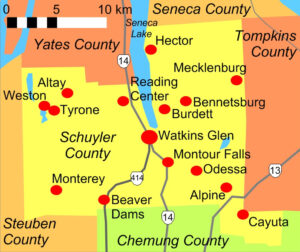 Schuyler County map