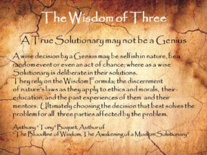 The Wisdom of Three Separates Genius from Solutionary