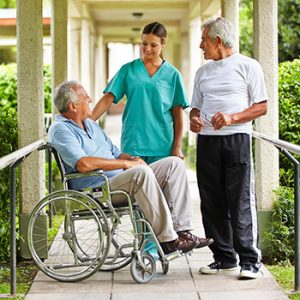 A man receiving home care services in Toronto