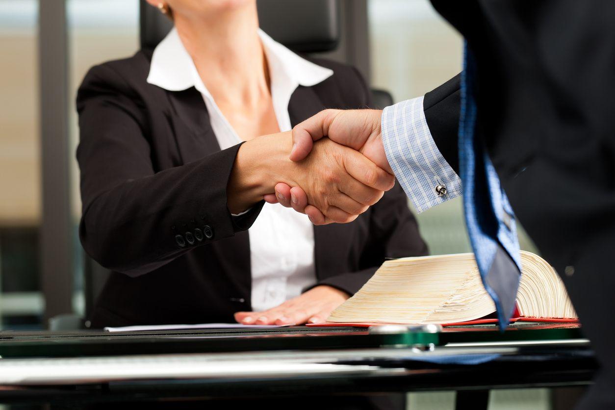Auto Accident Lawyer & Client