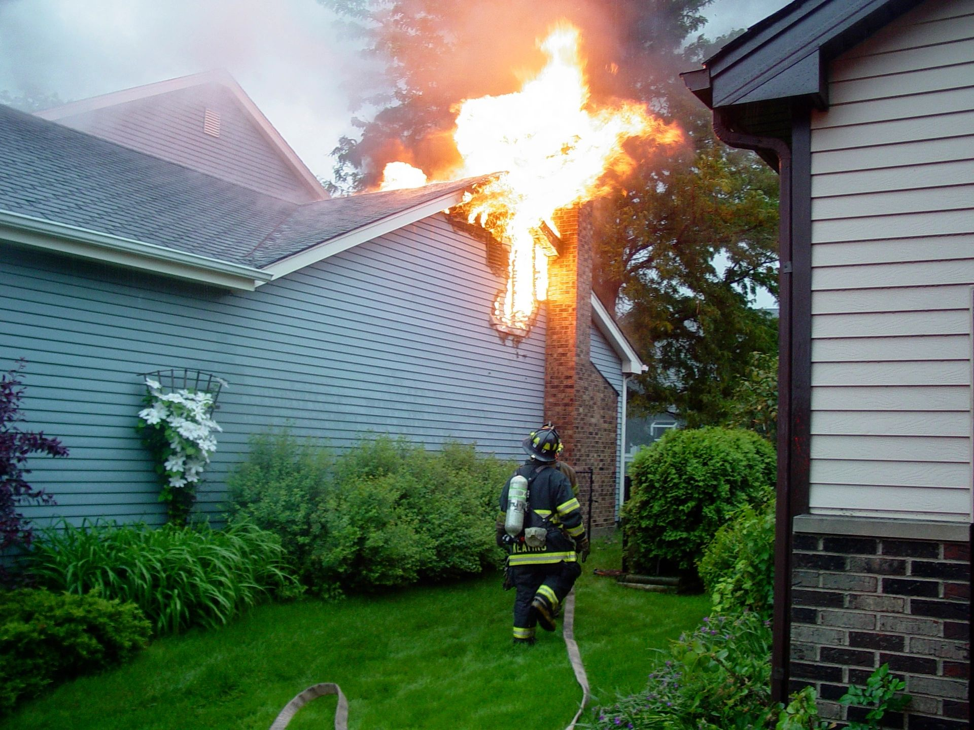 reclamación de seguro contra incendios