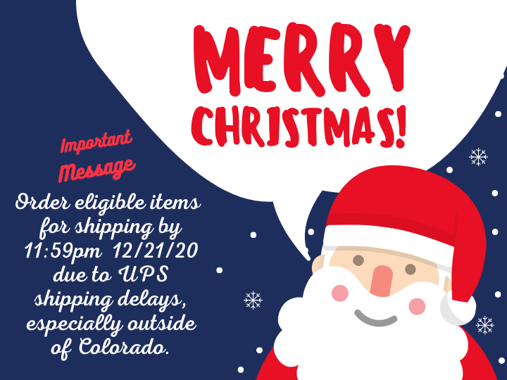 Important Christmas Shipping Message